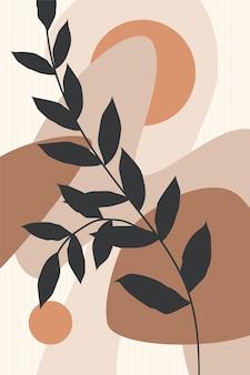 Plakat botaniczny minimalistyczny