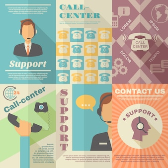 Plakat call center wsparcia