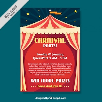 Plakat carnival z marquee tle