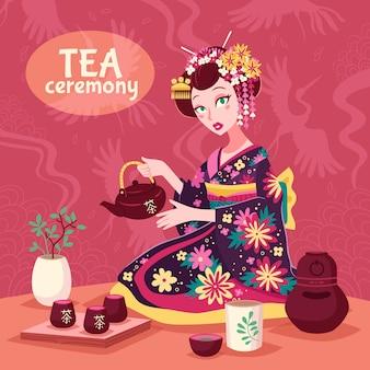 Plakat ceremonii parzenia herbaty