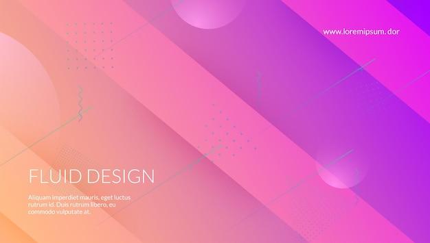 Plakat cyfrowy. zaproszenie poziome. różowy baner mobilny. plastikowa ramka. fajna strona docelowa. nowoczesna ulotka. neonowy element. tech gradientowy kształt. liliowy plakat cyfrowy