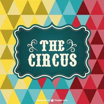 Plakat cyrk trójkąt wektorowe