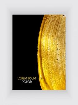 Plakat czarno-złoty
