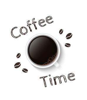 Plakat czasu kawy