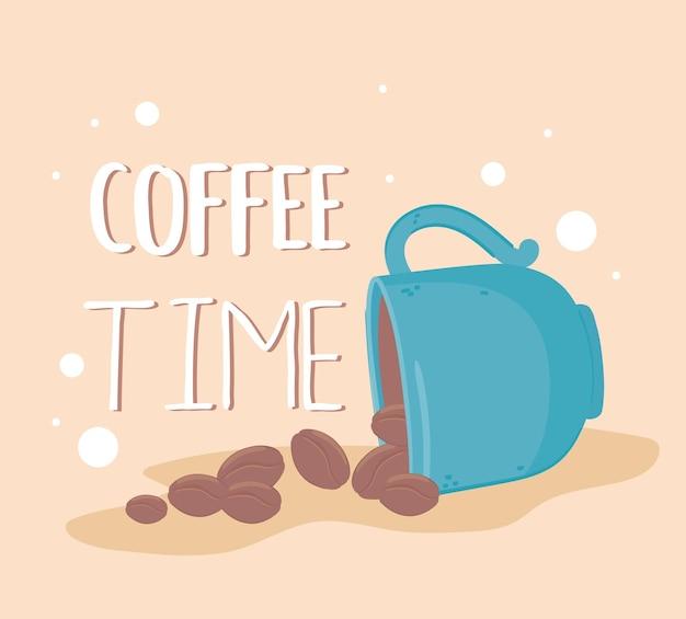 Plakat czasu na kawę
