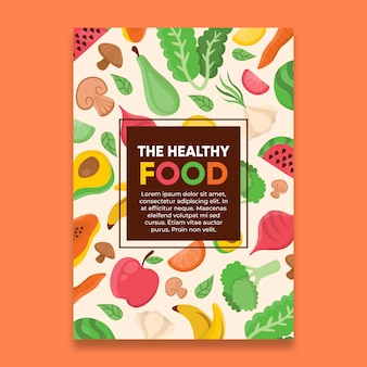 Plakat diety zdrowej żywności