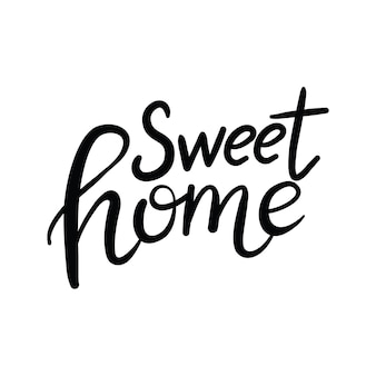 Plakat do domu napis typografia. ręcznie drukowany napis