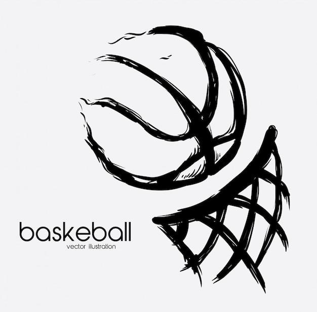 Plakat do koszykówki
