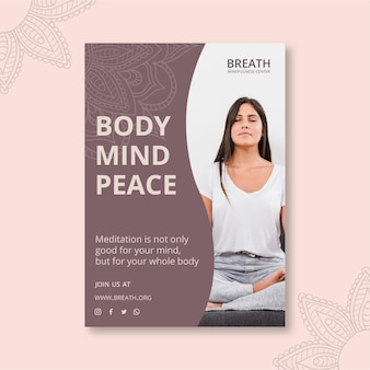Plakat do medytacji i uważności
