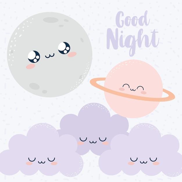 Plakat dobrej nocy