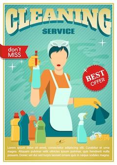 Plakat dotyczący usług sprzątania