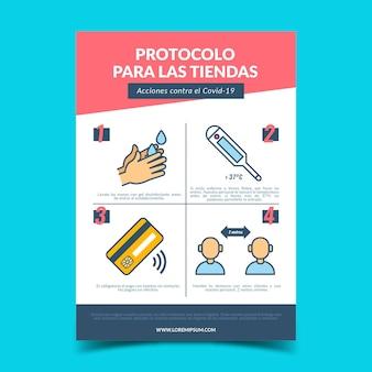 Plakat dotyczący zapobiegania koronawirusowi dla biznesu