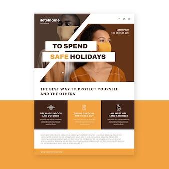 Plakat dotyczący zapobiegania koronawirusowi dla hoteli