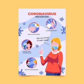 Plakat dotyczący zapobiegania koronawirusowi