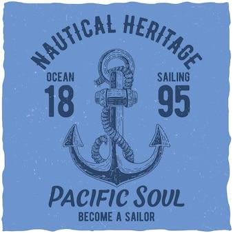 Plakat dziedzictwa morskiego