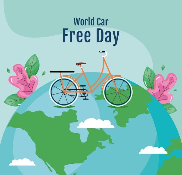 Plakat dzień bez samochodu