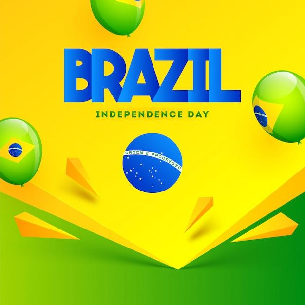 Plakat dzień niepodległości brazylii