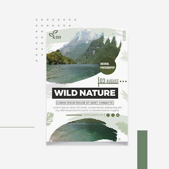 Plakat dzikiej fotografii naturalnej