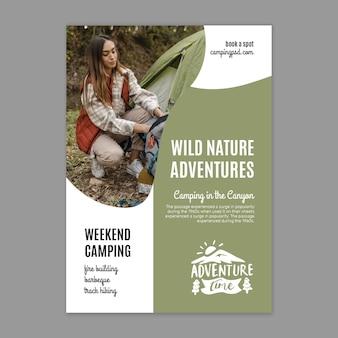 Plakat dzikiej przyrody ze zdjęciem