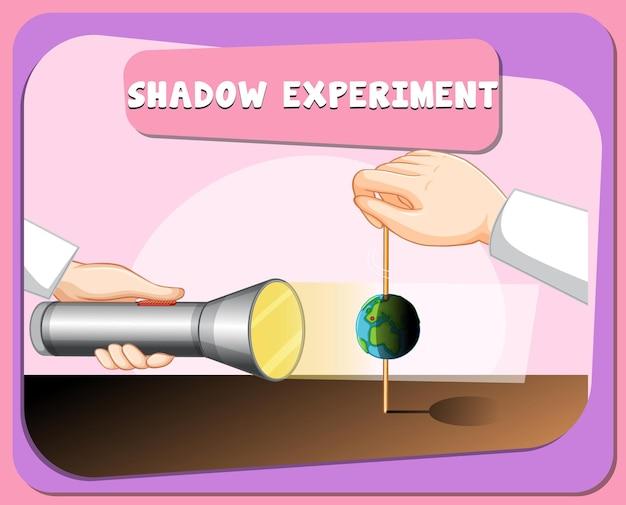 Plakat eksperymentu z nauką o cieniu