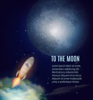 Plakat eksploracji księżyca