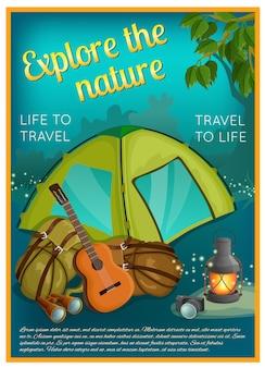 Plakat eksploracji przyrody