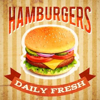 Plakat fast food