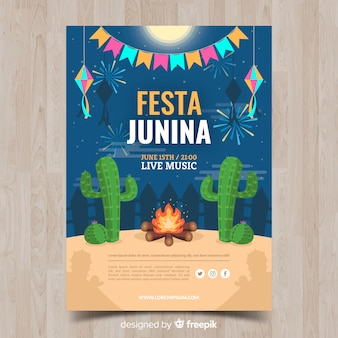 Plakat festa junina