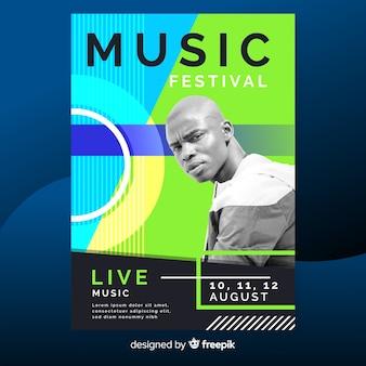 Plakat festiwal streszczenie muzyki ze zdjęciem