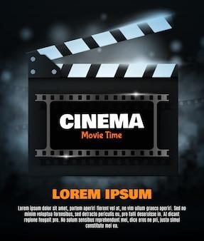Plakat festiwalu kina lub szablon ulotki dla swojego projektu.