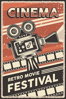 Plakat festiwalu kina retro filmu