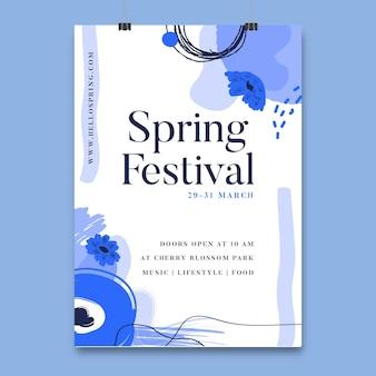 Plakat festiwalu kwiatowy wiosna