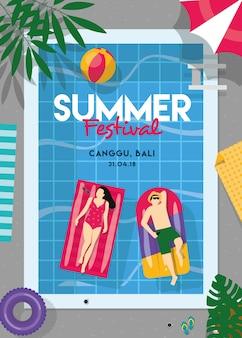 Plakat festiwalu letniego 2