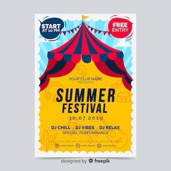 Plakat festiwalu lub szablon ulotki