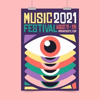 Plakat festiwalu muzycznego 2021