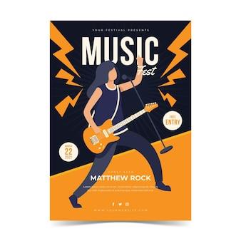 Plakat festiwalu muzycznego