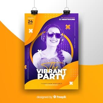 Plakat festiwalu muzyki abstrakcyjnej ze zdjęciem