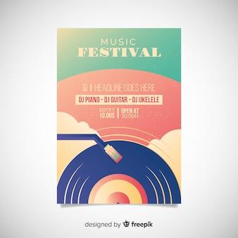 Plakat festiwalu muzyki gradientowej ilustracji