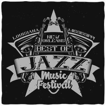 Plakat festiwalu muzyki jazzowej