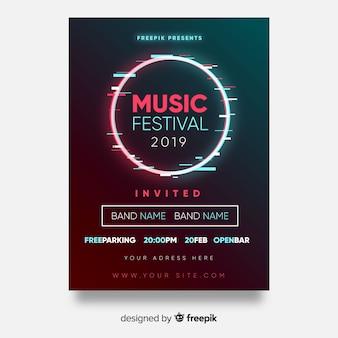 Plakat festiwalu muzyki koło