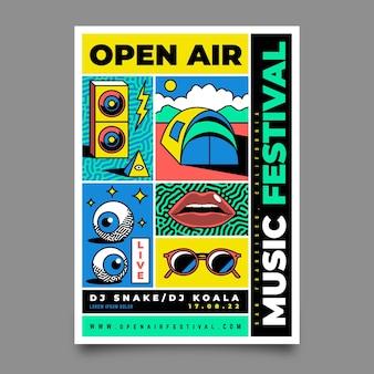 Plakat festiwalu muzyki na zewnątrz