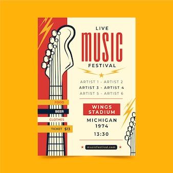 Plakat festiwalu muzyki na żywo