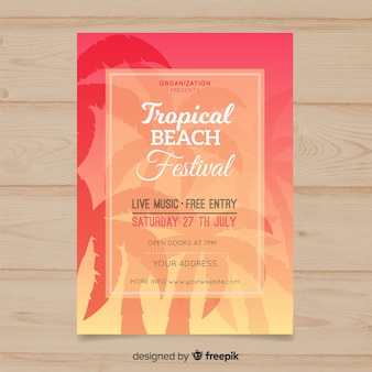 Plakat festiwalu muzyki palmowej