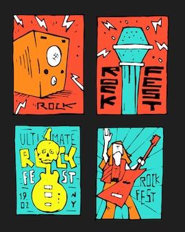 Plakat festiwalu muzyki rockowej