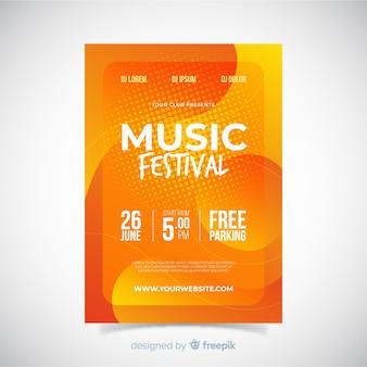 Plakat festiwalu muzyki