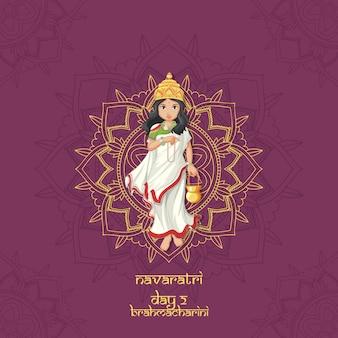 Plakat festiwalu navarati z boginią