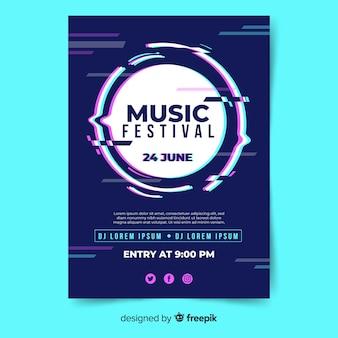 Plakat festiwalu niewyraźne koło muzyki