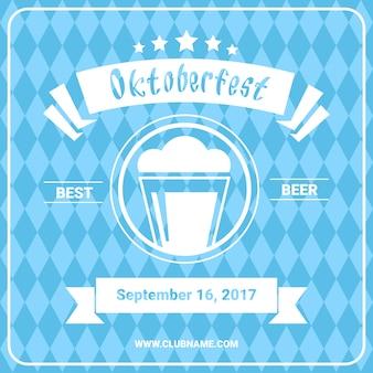 Plakat festiwalu piwa oktoberfest