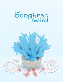 Plakat festiwalu songkran w tajlandii