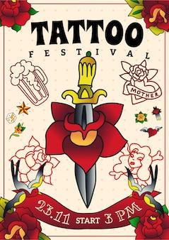 Plakat festiwalu tatuażu